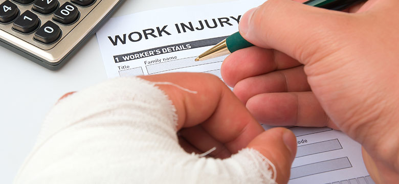 Injured workers filling out report image